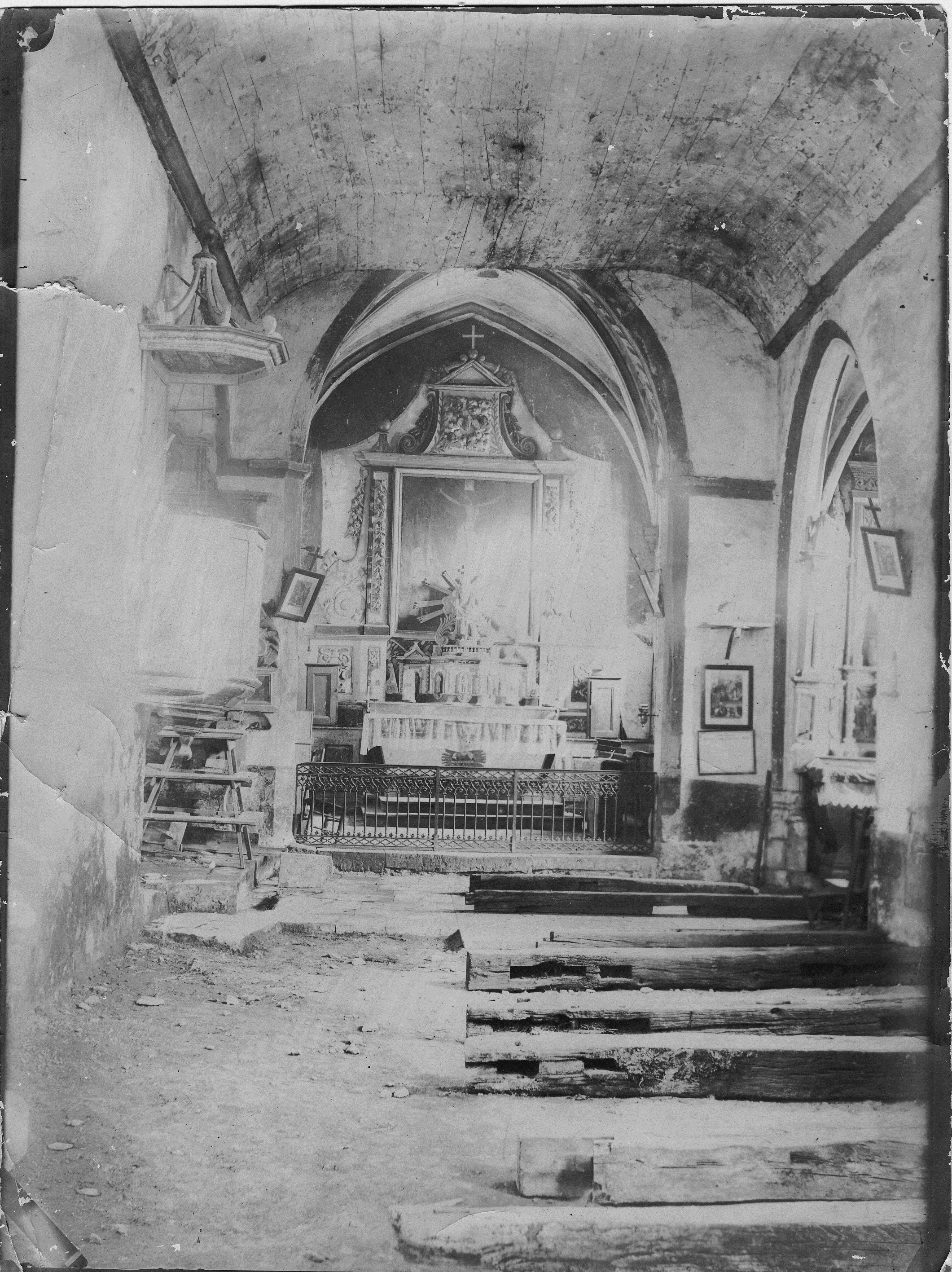 interior vault of old church
